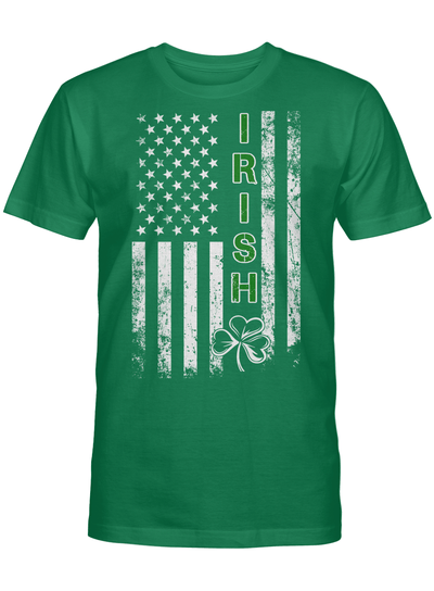 Ireland With Flag Usa Shirt St Patrick S Day T Shirt