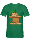 Cute Saint Patrick's Sloth T Shirt for Sloths Lovers T Shirt