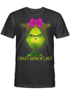 Crazy Grinch Lady Pink Bow Grinch Movie Fan Christmas Gift T Shirt