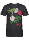 Merry Grinch Mas Grinch Holding Baseball Ornament Christmas Gift T Shirt