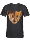 Simba Half Face The Lion King Family Movie Fan Gift T Shirt