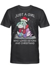 Just A Girl Who Loves Eeyore and Christmas Winnie the Pooh Fan T Shirt