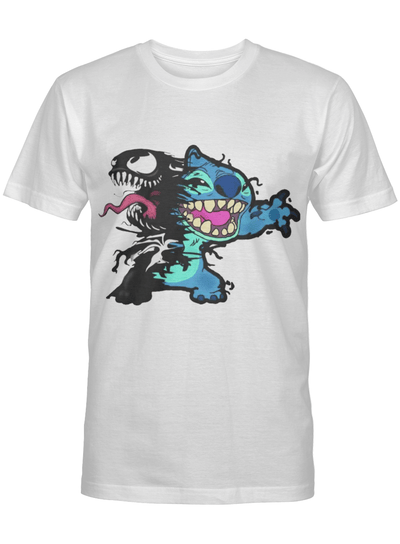 We Are Venom Stitch Lilo & Stitch Heroes Cartoon Movie Fan T Shirt