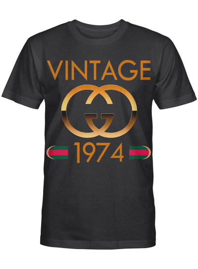 Vintage 1974 Happy Birthday 46th Year Old For Mom Dad Family T Shirt