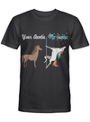 Your Auntie My Auntie Horse vs Unicorn Funny Aunt Gift Mother Day T Shirt