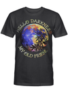Hello Darkness My Old Friend Full Moon Colorful Painting Artistic T Shirt