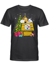 Sleepy Snoopy Steelers Football Team Christmas Tree Gift For Football Fan T Shirt