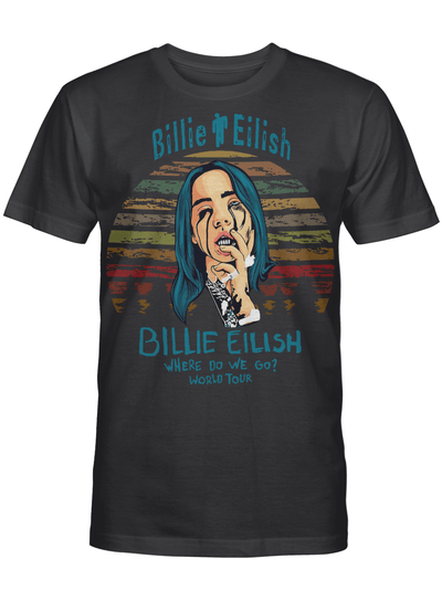 Where Do We Go Billie World Tour Gift For Eilish Fan Vintage T Shirt