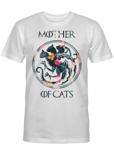 Mother Of Cats Symbol Floral Flower Cat Lover T Shirt
