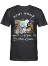 Britney Spears Fans Gift - Stay Home And Listen To Music Snoopy Album T shirt