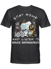 Bruce Srpingsteen Fans Gift - Stay Home And Listen To Music Snoopy Album T shirt