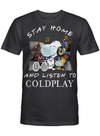 Coldplay Fans Gift - Stay Home And Listen To Music Snoopy Album T shirt
