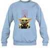 Baby Yoda Loves Apothic The Mandalorian Fan Sweatshirt