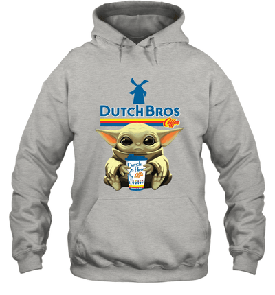 Baby Yoda Loves Dutch Bros Coffee The Mandalorian Fan Hoodie