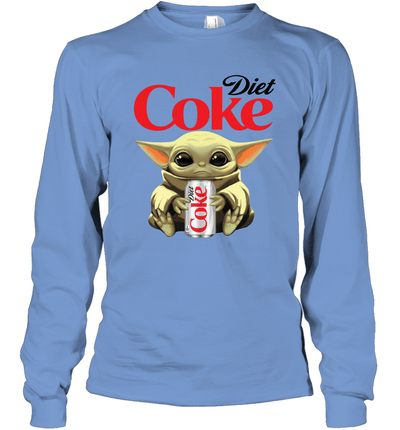 Baby Yoda Loves Diet Coke The Mandalorian Fan Long Sleeve T-Shirt