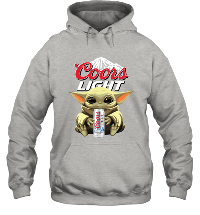 Baby Yoda Loves Coors Light Beer The Mandalorian Fan Hoodie