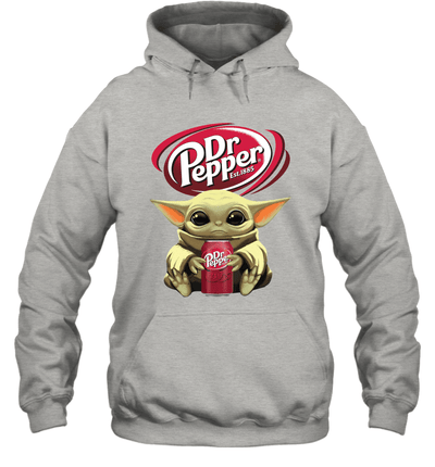 Baby Yoda Loves Dr Pepper Soda The Mandalorian Fan Hoodie