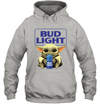 Baby Yoda Loves Bud Light Beer The Mandalorian Fan Hoodie