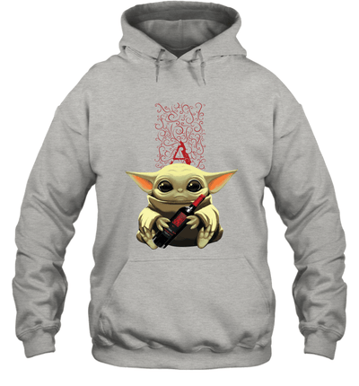 Baby Yoda Loves Apothic The Mandalorian Fan Hoodie