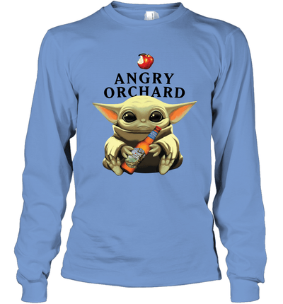 Baby Yoda Loves Angry Orchard Crisp Hard Cider The Mandalorian Fan Long Sleeve T-Shirt
