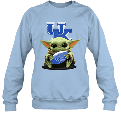 Baby Yoda Hug Kentucky Wildcats The Mandalorian Sweatshirt