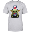 Baby Yoda Hug Arizona Wildcats The Mandalorian T-Shirt