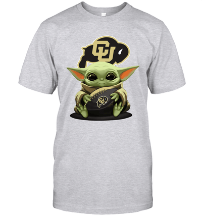 Baby Yoda Hug Colorado Buffaloes The Mandalorian T-Shirt