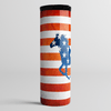 American Flag And Horse - Stainless Steel Eco Skinny Tumbler Coffee Cup