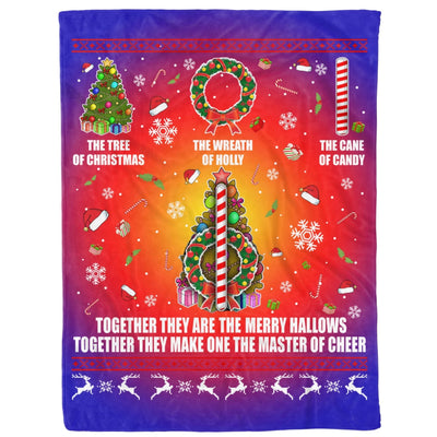 Ugly Christmas Gift They Make One Master Of Cheer The Tree of Christmas - Fleece Blanket