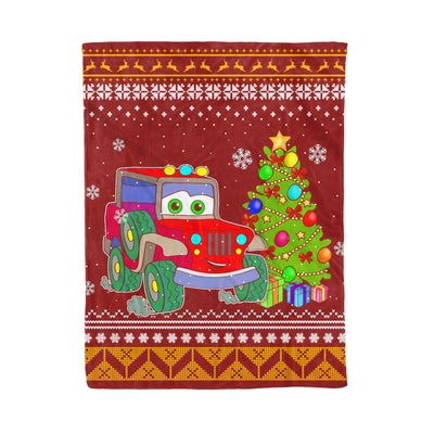 Merry Jeepmas And Happy New Year Jeep Lover - Fleece Blanket