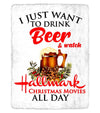 I Just Want To Drink Beer And Watch Hallmark Movies All Day - Sherpa Blanket