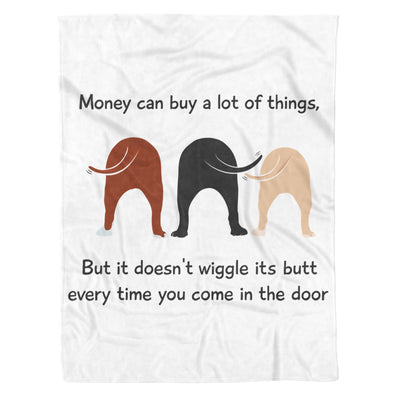 Funny Wiggle Butts Dogs Lover Cheer Up Good Vibes - Premium Fleece Blanket