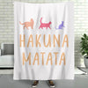 Cat Lover Cats Owner Hakuna Matata - Premium Fleece Blanket