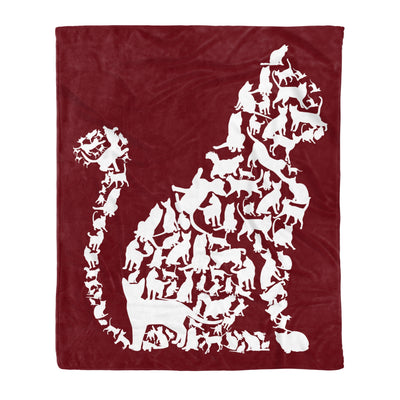 I Love Cats Cute Cat Graphic Cat Heart Sign Gift - Fleece Blanket