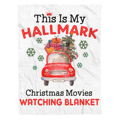 This Is My Christmas Movies Watching Blanket - Premium Fleece Blanket
