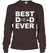 Best Dad Ever Baltimore Ravens Fan Gift Ideas Long Sleeve image photo picture