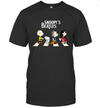 The Snoopy Beatles Peanuts Characters Funny Abbey Road Graphic T shirt