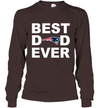 Best Dad Ever New England Patriots Fan Gift Ideas Long Sleeve image picture photo
