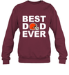 Best Dad Ever Cleveland Browns Fan Gift Ideas Sweatshirt image photo picture