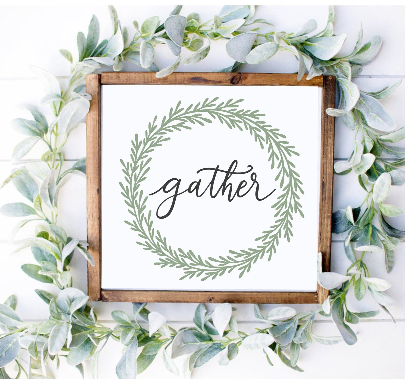 DIY Gather Wreath Sign