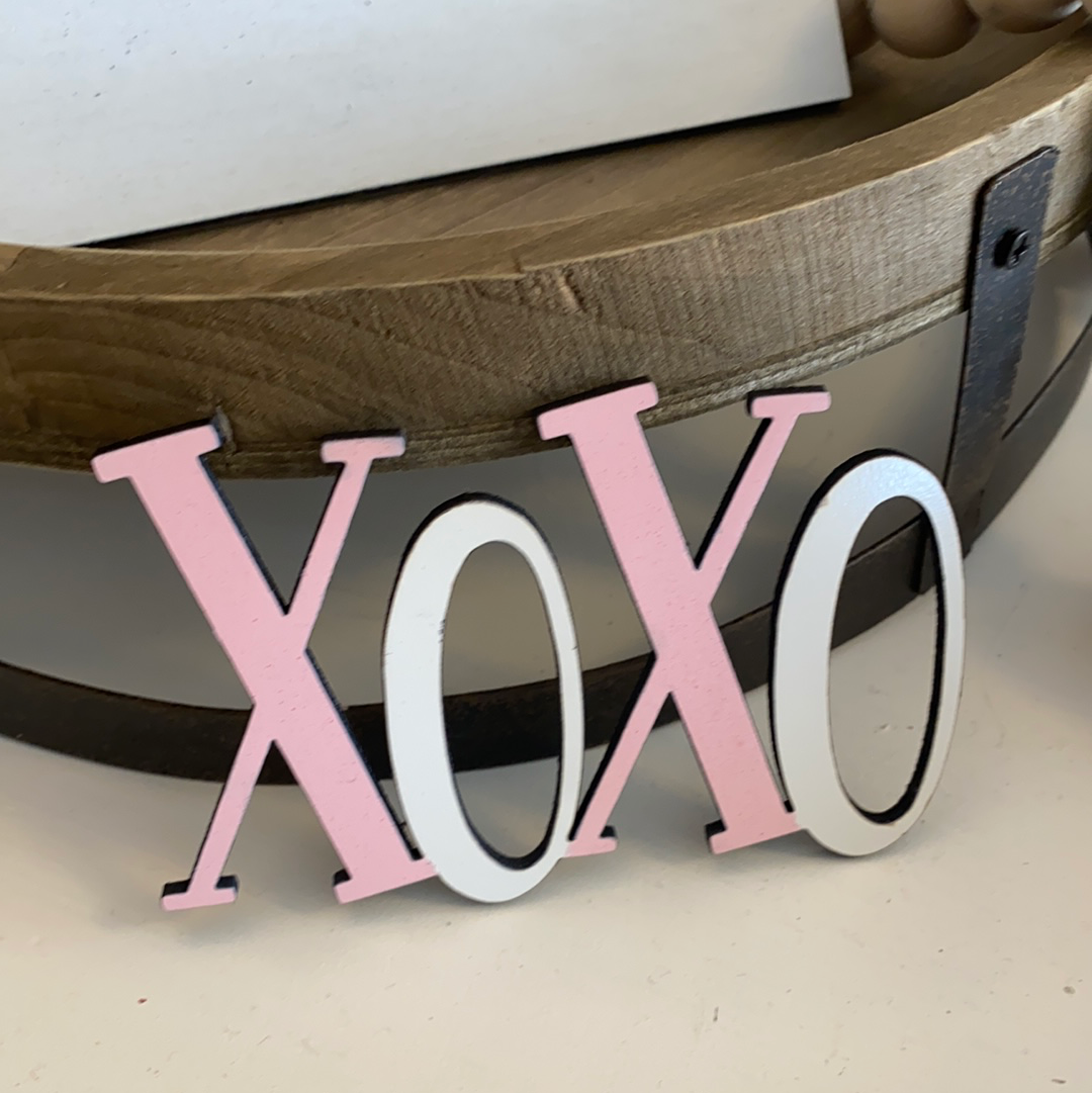 Xoxo tiered tray decor