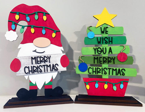 DIY Christmas Shelf Sitters