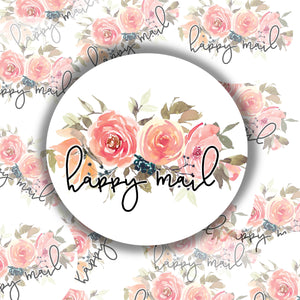 Happy Mail Floral- PACKAGING STICKERS