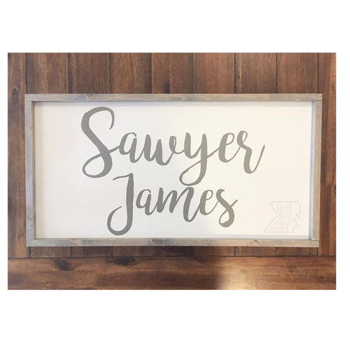 CUSTOM Large Nursery Name Wood Sign-PICKUP ONLY