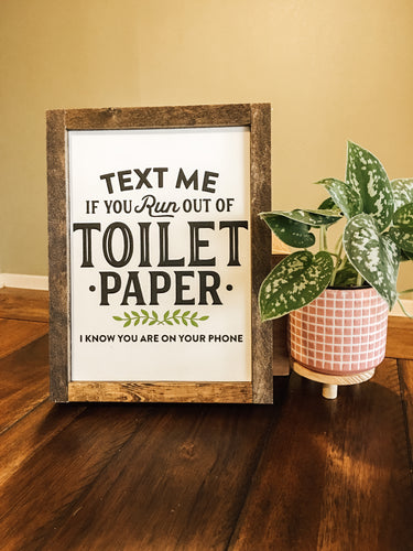 DIY Bathroom Toilet Paper wood sign