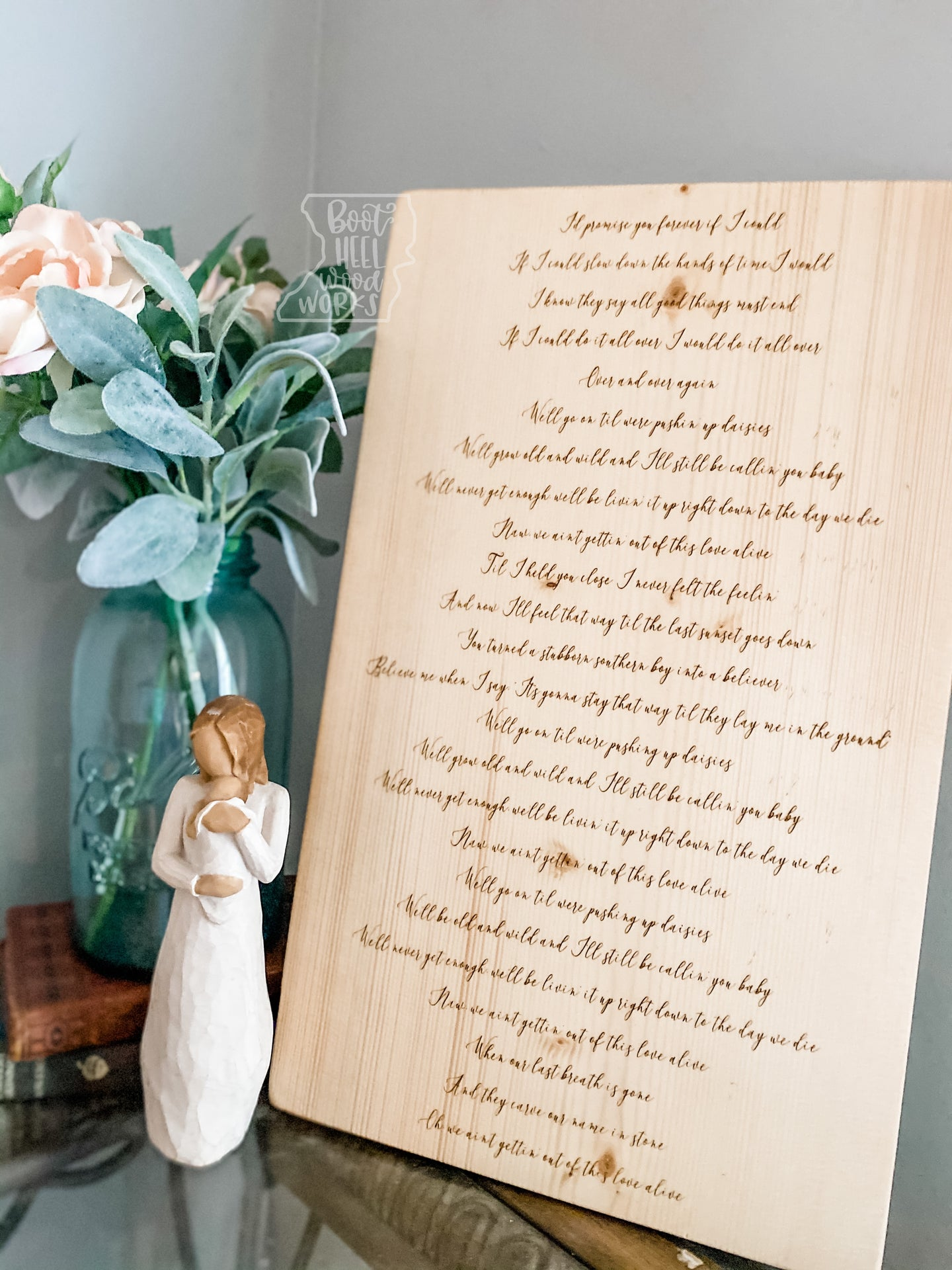 Custom Engraved Lyric Sign