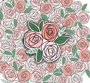 Rose Floral-VINYL STICKER