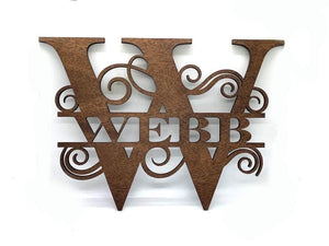 Split Monogram Sign