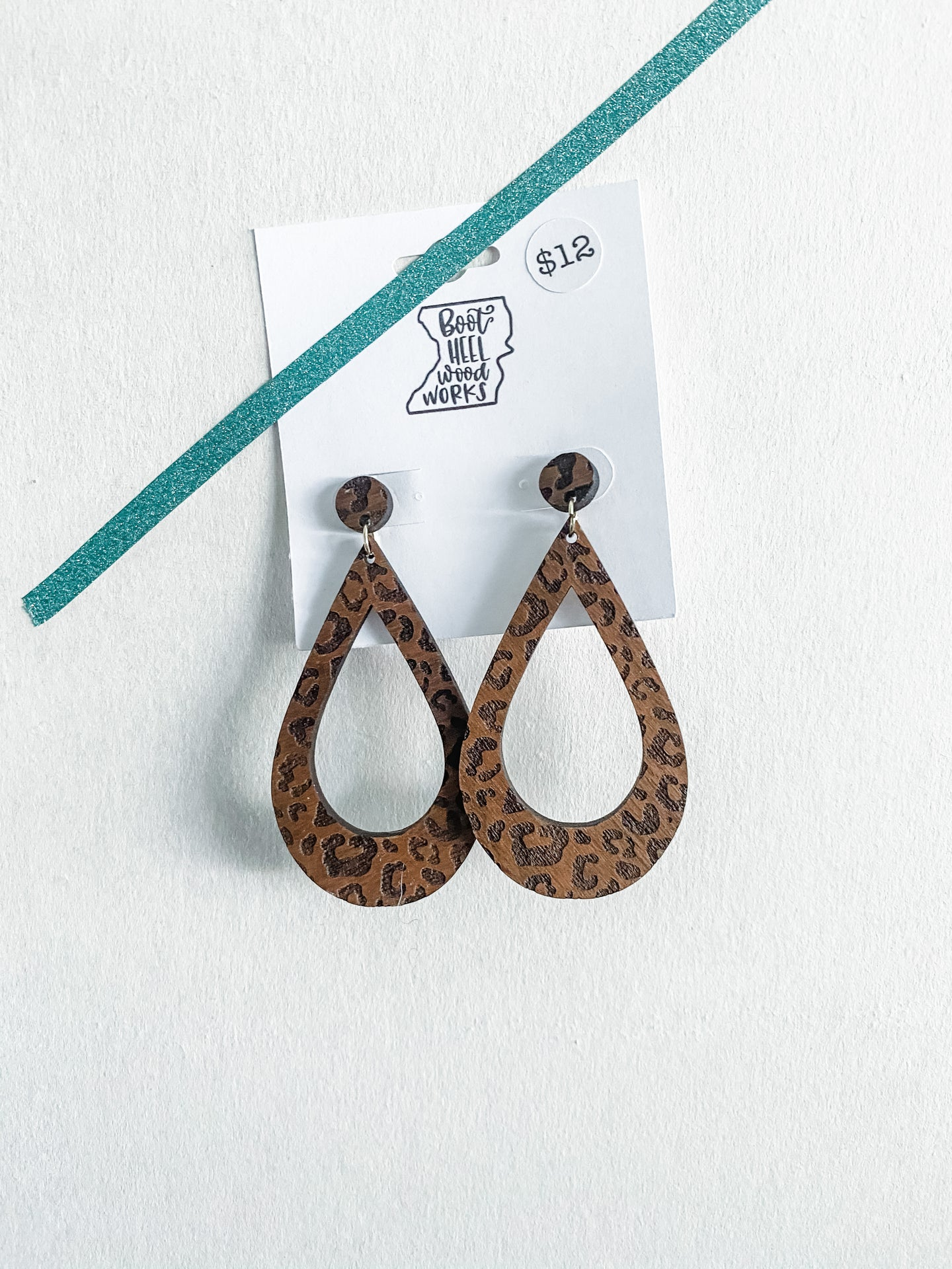 Leopard Walnut Earrings