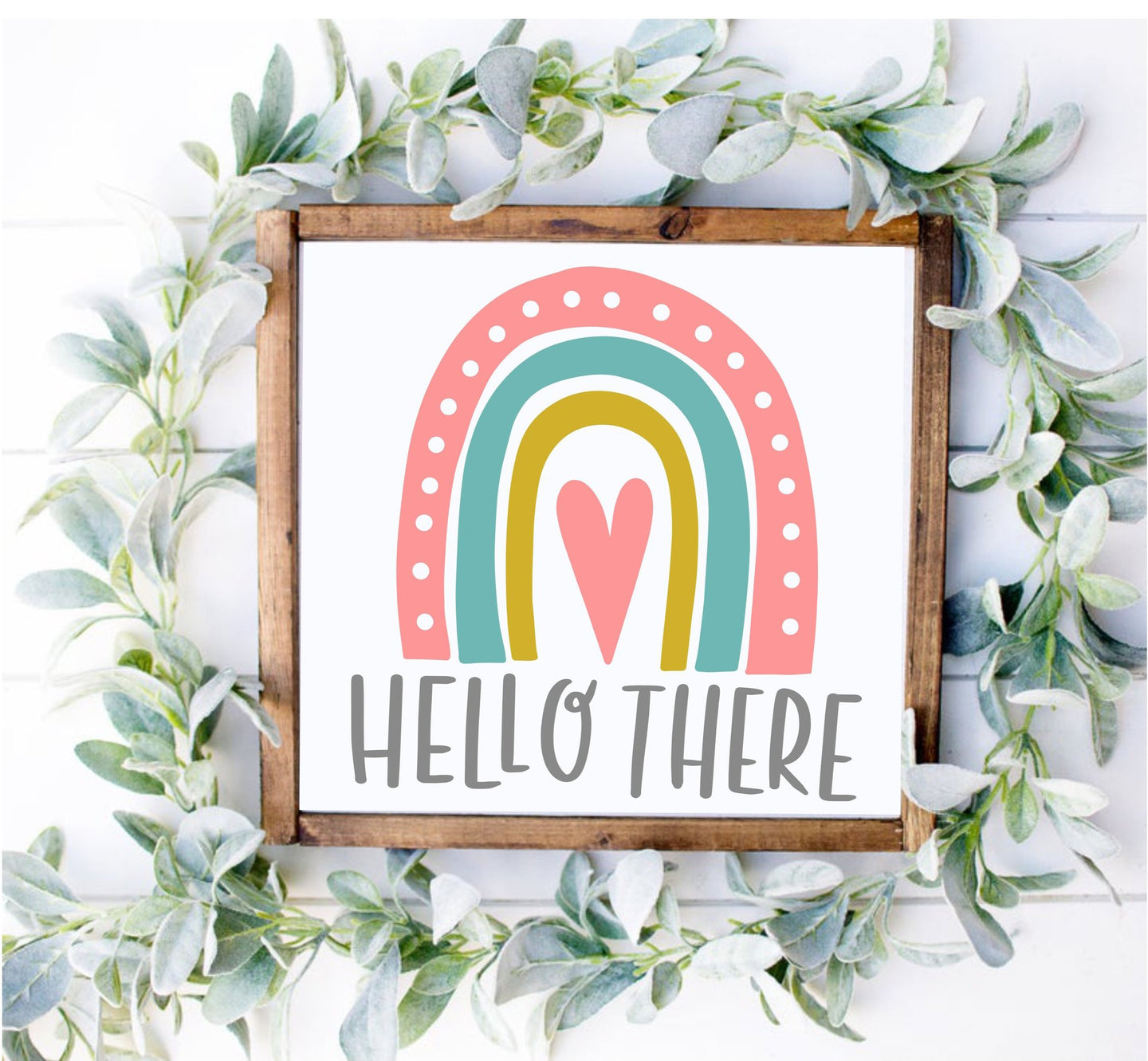 DIY Rainbow Hello There Sign